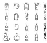 drinks and beverages vector... | Shutterstock .eps vector #1230499501