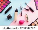 top view picture of makeup...   Shutterstock . vector #1230502747