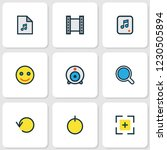 multimedia icons colored line... | Shutterstock . vector #1230505894