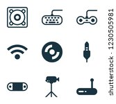 hardware icons set with video... | Shutterstock .eps vector #1230505981