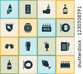 beverages icons set with ale... | Shutterstock .eps vector #1230508591
