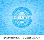 anti social light blue emblem.... | Shutterstock .eps vector #1230508774