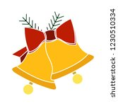 graphic jingle bell isolated... | Shutterstock .eps vector #1230510334