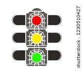road traffic light isolated... | Shutterstock .eps vector #1230510427