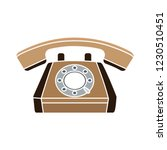 vector old phone isolated icon  ... | Shutterstock .eps vector #1230510451