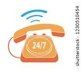 vector 24 7 customer service... | Shutterstock .eps vector #1230510454