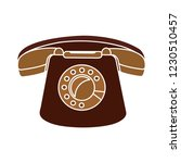 vector old phone isolated icon  ... | Shutterstock .eps vector #1230510457