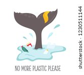 eco poster. whale tale and the... | Shutterstock .eps vector #1230511144