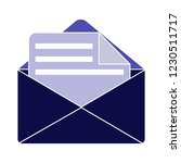 vector mail or email icon ... | Shutterstock .eps vector #1230511717