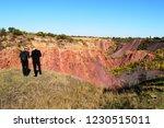 men standing on the edge of a...   Shutterstock . vector #1230515011