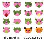 vector illustration set of cute ... | Shutterstock .eps vector #1230515521