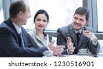 business team discussing new... | Shutterstock . vector #1230516901