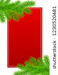 holiday christmas frame with... | Shutterstock .eps vector #1230520681