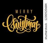 holiday golden hand lettering... | Shutterstock .eps vector #1230520684