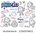 space cats  collection of... | Shutterstock .eps vector #1230524821