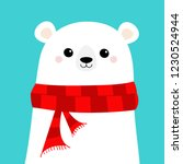 polar white bear cub face... | Shutterstock .eps vector #1230524944