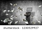 businessman in suit with laptop ...   Shutterstock . vector #1230529927