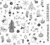 christmas background  seamless... | Shutterstock .eps vector #1230531841