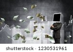 businessman in suit with...   Shutterstock . vector #1230531961