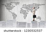 business woman in suit standing ...   Shutterstock . vector #1230532537