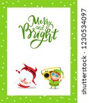 merry and bright greeting card... | Shutterstock .eps vector #1230534097