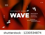 3d poster with wave stripes.... | Shutterstock .eps vector #1230534874