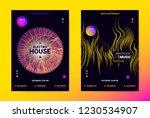 techno music poster. wave flyer ... | Shutterstock .eps vector #1230534907