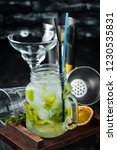 lemonade with menthol and lime. ... | Shutterstock . vector #1230535831
