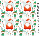 seamless vector pattern with... | Shutterstock .eps vector #1230538294