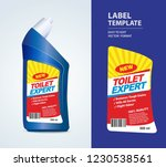 bottle label  package template... | Shutterstock .eps vector #1230538561