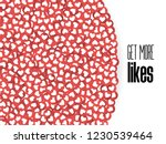 get more likes. red heart icons.... | Shutterstock .eps vector #1230539464