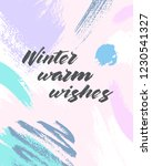 trendy winter poster with hand... | Shutterstock .eps vector #1230541327