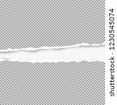 squared ripped grey paper for... | Shutterstock .eps vector #1230545074