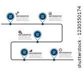 unique business infographics   Shutterstock .eps vector #1230550174