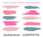 pink grey label brush stroke... | Shutterstock .eps vector #1230554731