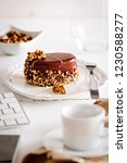 delicious chocolate piece of... | Shutterstock . vector #1230588277