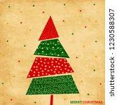 holiday card with christmas... | Shutterstock .eps vector #1230588307