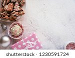 top view of delicious sweets... | Shutterstock . vector #1230591724
