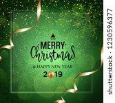 christmas vector festive green... | Shutterstock .eps vector #1230596377