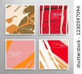creative artistic backgrounds...   Shutterstock .eps vector #1230597094