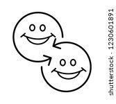 exchange of courtesies. vector... | Shutterstock .eps vector #1230601891