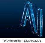 ai letter artificial... | Shutterstock .eps vector #1230603271