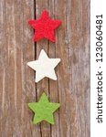 Stars On Wooden Background...