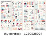 big set of business infographic ... | Shutterstock .eps vector #1230628024