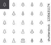 christmas tree outline icons... | Shutterstock .eps vector #1230631174