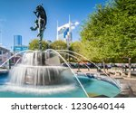 fountain at the symphony place... | Shutterstock . vector #1230640144