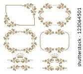 vector set of decorative... | Shutterstock .eps vector #123064501
