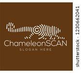 chameleon scan technology logo...   Shutterstock .eps vector #1230662041