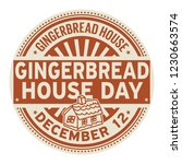 gingerbread house day  december ... | Shutterstock .eps vector #1230663574