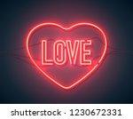 bright heart. neon sign. retro... | Shutterstock .eps vector #1230672331